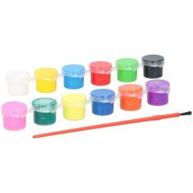 Acryl verf setje 13 delig voor kinderen