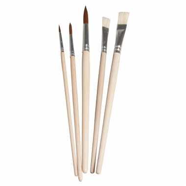 Knutsel schilder penselen synthetisch set 5-delig