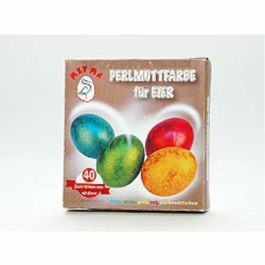 Paasei verf parelmoer voor ca. 40 eieren