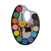 Hobby/knutsel waterverf/aquarel in koffer 18 kleuren voor kids